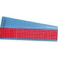 Brady WM-1-33-RD кабельные маркеры 6,35*38 мм. красный лист (упак./25 шт.)