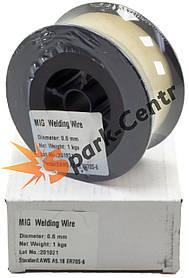 Омедненная сварочная проволока ER70S-6(СВ08Г2С) TM Welding Dragon 0,6 мм (упаковка - 1 кг)