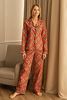 Пижама Forly Пижамный костюм из хлопка с брюками Present M Принт HL0010-80-69_M
