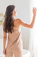 Піжама Forly Комплект шовковий з брюками Nude M Бежевий SH0004-01-79_M, фото 3