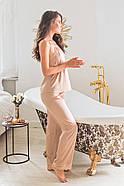 Піжама Forly Комплект шовковий з брюками Nude M Бежевий SH0004-01-79_M, фото 4