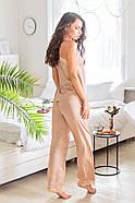 Піжама Forly Комплект шовковий з брюками Nude M Бежевий SH0004-01-79_M, фото 5