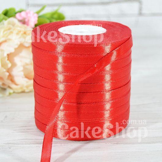 Стрічка атласна червона