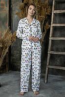Пижама Forly Пижамный костюм из хлопка с брюками Sleeping Sheep S Принт HL0010-51-69_S