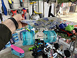 """Скейт Penny Board, с широкими светящимися колесами Пенни борд, детский , от 4 лет, расцветка """"СИНИЕ РОЗЫ"""", фото 4"""