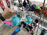 """Скейт Penny Board, с широкими светящимися колесами Пенни борд, детский , от 4 лет, расцветка """"СИНИЕ РОЗЫ"""", фото 5"""