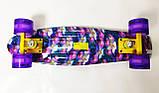 """Скейт Penny Board, с широкими светящимися колесами Пенни борд, детский , от 4 лет, расцветка """"Орхидея"""", фото 4"""