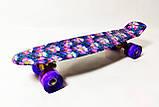 """Скейт Penny Board, с широкими светящимися колесами Пенни борд, детский , от 4 лет, расцветка """"Орхидея"""", фото 5"""