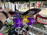 """Скейт Penny Board, с широкими светящимися колесами Пенни борд, детский , от 4 лет, расцветка """"Орхидея"""", фото 8"""