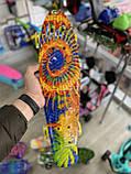Скейт Penny Board, с широкими светящимися колесами Пенни борд, детский , от 4 лет, расцветка Солнце, фото 5