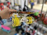 Скейт Penny Board, с широкими светящимися колесами Пенни борд, детский , от 4 лет, расцветка Солнце, фото 6