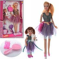 Кукла DEFA 8304 с дочкой в одинаковых нарядах, с медвежонком, сумочкой и другими аксессуарами (2 вида)