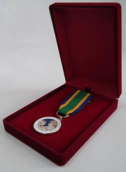 Футляр классический для наград орденов монет медалей значков бордовый бархатный 188