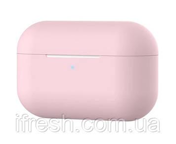 Чехол силиконовый для наушников Apple Airpods Pro, силикон, разные цвета Нежно-розовый