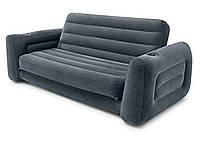 Надувной раскладной диван Intex 66552 велюровый (203х224х66 см)