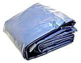 Двухместный надувной велюровый матрас 67003 синий 203-152-22 см, фото 2