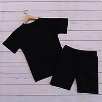 Мужской летний комплект футболка шорты, летний мужской спортивный костюм, комплект мужской повседневный