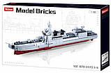 Конструктор детский SLUBAN M38-B0700 Корабль крейсер модель в соотношении 1:450 (618 элементов) (длина 42 см), фото 2