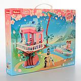 """Дитячий конструктор серії Рожева Мрія """"Весільний будиночок на дереві"""" Sluban M38-B0771 з катером, (417 дет), фото 3"""