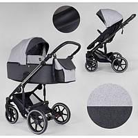 Детская коляска универсальная 2 в 1 Expander EXEO EX-21002 цвет Silver ткань с водоотталкивающей пропиткой