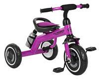 Детский трехколесный велосипед с подсветкой колес и бутылкой для воды «TURBOTRIKE» M 3648-M-2, (Фиолетовый)
