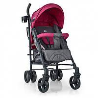 Детская коляска трость для прогулок, с чехлом для ножек, подстаканником EL CAMINO BREEZ ME 1029 PINK, Розовая