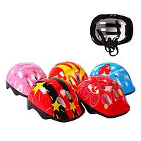 Захисний шолом для дитини з барвистим малюнком, регулюється по окружності голови BT-CPS-0021 (5 видів)