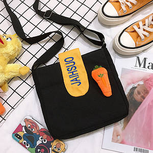 Есть моркови.Женская парусиновая сумка в новом стиле, универсальная сумка на одно плечо оптом