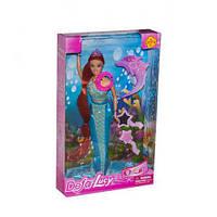 Музыкальная кукла Defa 8230, Русалочка со звуковыми, световыми эффектами и аксессуарами, (3 вида)