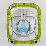 Ходунки для малыша со звуковой игровой панелью, мягким бампером и подвесками JOY W 41202, салатовый, фото 4