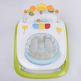 Ходунки для малыша со звуковой игровой панелью, мягким бампером и подвесками JOY W 41202, салатовый, фото 5