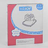 Ходунки для малыша со звуковой игровой панелью, мягким бампером и подвесками JOY W 41202, салатовый, фото 6