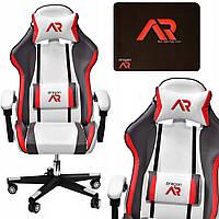 Комп'ютерне крісло для геймера JUMI ARAGON TRICOLOR WHITE
