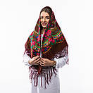Українська хустка з люрексом 110х110см, фото 4