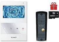 Комплект відеодомофона Slinex SQ-04M White + Виклична панель Slinex ML-16HR Black