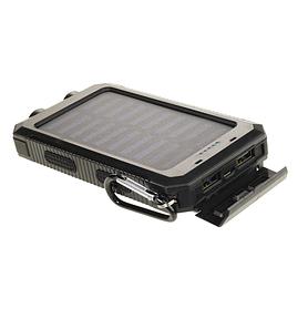Портативний зарядний пристрій зовнішній акумулятор power bank на сонячній батареї 20000 мА з ліхтариком