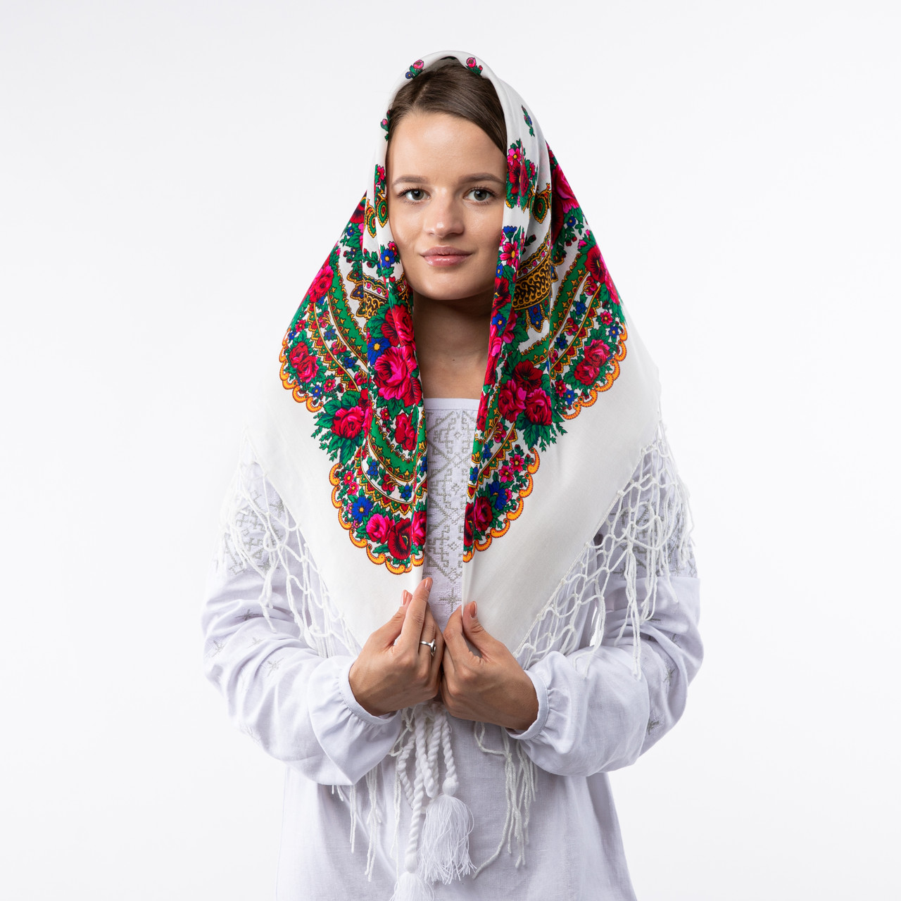 Українська хустка з тороками 90х90см
