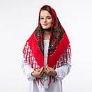 Українська хустка з тороками 90х90см, фото 4