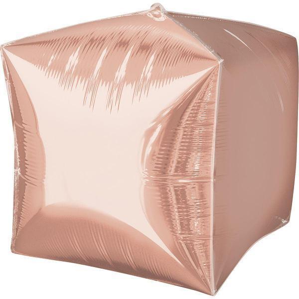 """Фольгована кулька """"Куб"""" (рожеве золото) 35х70см"""