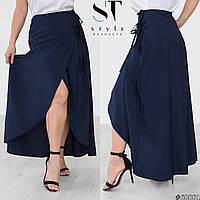 Летняя длинная юбка на запах больших размеров (р50-60). Арт-3700/31, фото 1