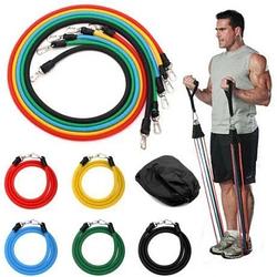 Набор трубчатых эспандеров резинок для фитнеса 5 жгутов JT-003 + Чехол