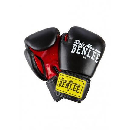 Боксерские перчатки BENLEE Fighter 14 ун. (194006/1503) Черный/Красный, фото 2