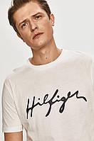 Чоловіча футболка Tommy Hilfiger, біла томмі хілфігер, фото 1
