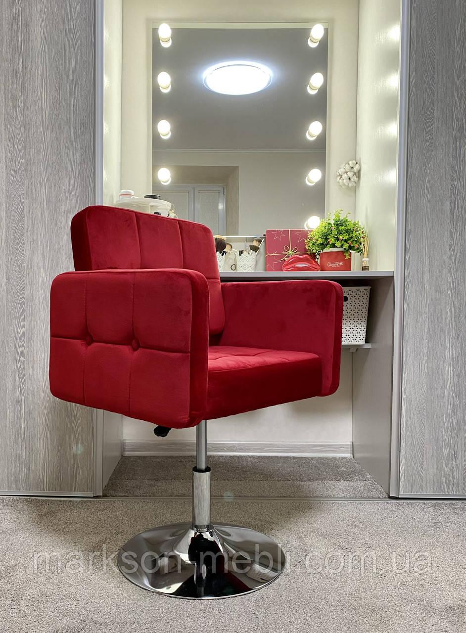 Крісло для клієнта BEATRICE з велюровою оббивкою