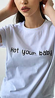 Женская футболка х/б. Размер: 42-46 (норма), 48-50 (полубатал). Цвет: лиловый, бежевый, чёрный, белый, оранж