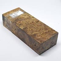 Стабилизированная древесина брусок Кап вяза (Карагач) КРИЛАТ 127х48х31, фото 1
