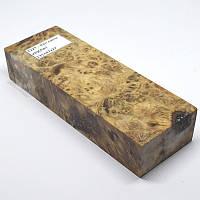 Стабилизированная древесина брусок Кап липы КРИЛАТ 135x47x27, фото 1