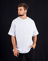Спортивная футболка оверсайз DNK MAFIA белая. Оверсайз стиль.