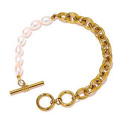 Ланкова браслет - З натуральними перлами