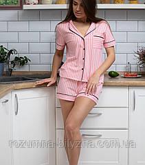 Піжама жіноча сорочка та шорти, бавовна. ТМ Plum. S. M. L. XL